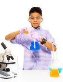 Learning to mix chemicals — Stock Photo