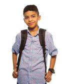 Black schoolboy — Stock Photo