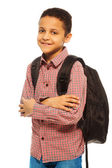 Happy black school boy — Stock Photo