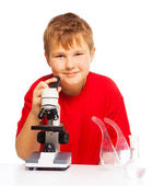 Microscope is fun to play and study — Stock Photo