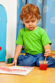 Occupied with painting — Stock Photo
