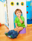 Learning to use potty — Stock Photo