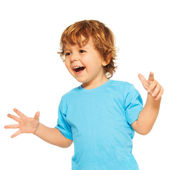 Happy exited two years old kid — Stock Photo