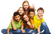 Group of happy kids — Stock Photo