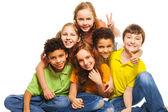 Grupy dzieci, szczęśliwy — Zdjęcie stockowe