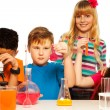Science kids team — Stock Photo