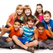 Group of happy diverse looking boys and girs — Stock Photo #24687111