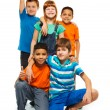 5 happy kids - Stock Photo