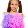 Happy little cheerleader — Stock Photo #24687695