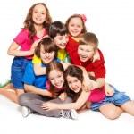 Big lump of laughing kids — Stock Photo #24687717