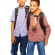 Team of two brothers — Stock Photo