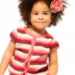 Black little girl portrait — Stock Photo