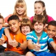 Stock Photo: Group of boys and girls