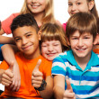 Large group of happy kids — Stock Photo #24688429