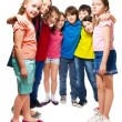 Kids standing in semi-circle — Stock Photo #24688629