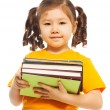 Kid with books — Stock Photo