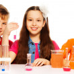 Chemistry class team — Stock Photo #24689007