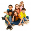 Group of happy diversity looking kids — Stock Photo #24689139