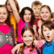 Close-up of school children group — Stock Photo