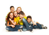 Group of diversity looking kids — Stock Photo