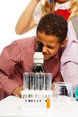 School chemie onderzoek — Stockfoto