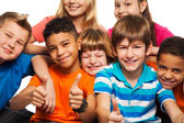 Large group of happy kids — Stockfoto