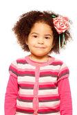 Happy dark skinned girl — Stock Photo