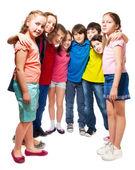 Kids standing in semi-circle — Stock Photo