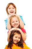 Portrait of three kids — Stock Photo
