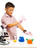 Mixing chemicals with dropper — Stock Photo