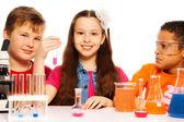 Chemistry class team — Stock Photo