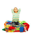 Having a lot of clothes is fun — Stock Photo