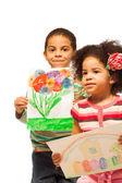 детский рисунок — Стоковое фото