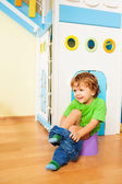 Putting off pants learning to use potty — Stock Photo