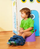 Using a potty — Stock Photo