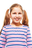 Happy, smiling, with ponytails — Stock Photo