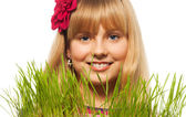 Blond and spring — Stock Photo