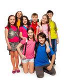 Gruppo di scolari — Foto Stock