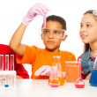 Stock Photo: Chemistry class
