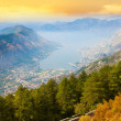Kotor bay and town — Stock Photo