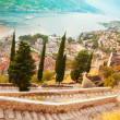 Kotor from the castle — Stock Photo