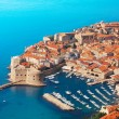 Boats at Dubrovnik old town port — Stock Photo #28465589