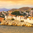 Dubrovnik fort from the sea — Stock Photo