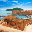 Port of Dubrovnik from the walls — Stock Photo #28465635