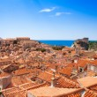 Red rile roofs of Dubrovnik — Stock Photo #28465643