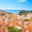 Panorama of Dubrovnik city and walls — Stock Photo