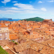 Bird view of old town Dubrovnik — Stock Photo #28465699