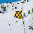Avalanche warning flag — Stock Photo