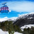 Mountains in Androrra and ski cable car — Stock Photo