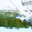 Ski lift in winter resort — Stock Photo #28467529